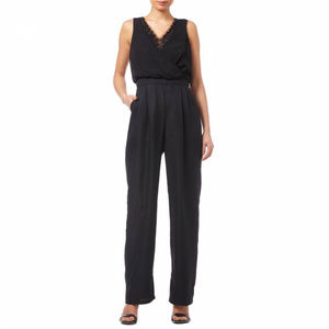 Black Beaded Georgette Jumpsuit ADRIANNA PAPELL